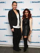 Jenni 'JWoww' Farley and Nicole 'Snooki' Polizzi visits at SiriusXM Studios on November 10 2015 in New York City