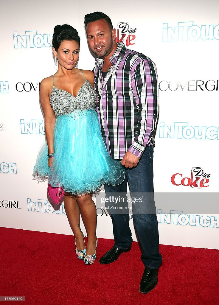 Jenni 'JWoww' Farley and Roger Mathews attend In Touch Weekly's 2013 Icons & Idols event at FINALE Nightclub on August 25, 2013 in New York City.