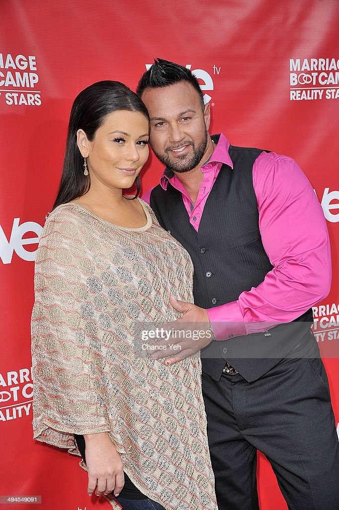 Jenni 'JWoww' Farley and Roger Mathews attend the Marriage Boot Camp Reality Stars event at Catch Rooftop on May 29 2014 in New York City