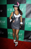 Jenni 'JWoww' Farley arrives at the 'Pimp N Ho' costume ball held at Chateau Nightclub Gardens on October 28 2011 in Las Vegas Nevada