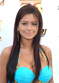 Jenni JWoww Farley at the Premiere Radio KIIS FM 'Now 34 And The Jersey Shore' Party at Hollywood Tower on July 11 2010 in Los Angeles California