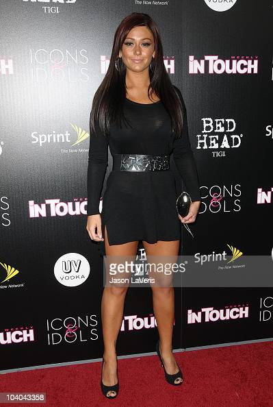 Jenni 'JWoww' Farley attends In Touch Weekly's 'Icons Idols' annual celebration at Chateau Marmont's Bar Marmont on September 12 2010 in Hollywood...