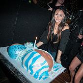 Jenni 'JWoww' Farley attends Jenni 'JWoww' Farley's Birthday Celebration at Drunken Monkey on February 21 2014 in the Staten Island borough of New...
