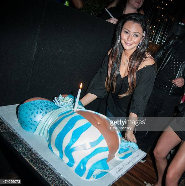 Jenni 'JWoww' Farley attends Jenni 'JWoww' Farley's Birthday Celebration at Drunken Monkey on February 21 2014 in the Staten Island borough of New...