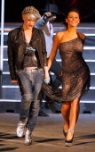 Jenni 'JWoww' Farley from hit series Jersey Shore walks the runway with Richie Rich at the Villionaire Richie Rich Fall 2011 fashion show during...