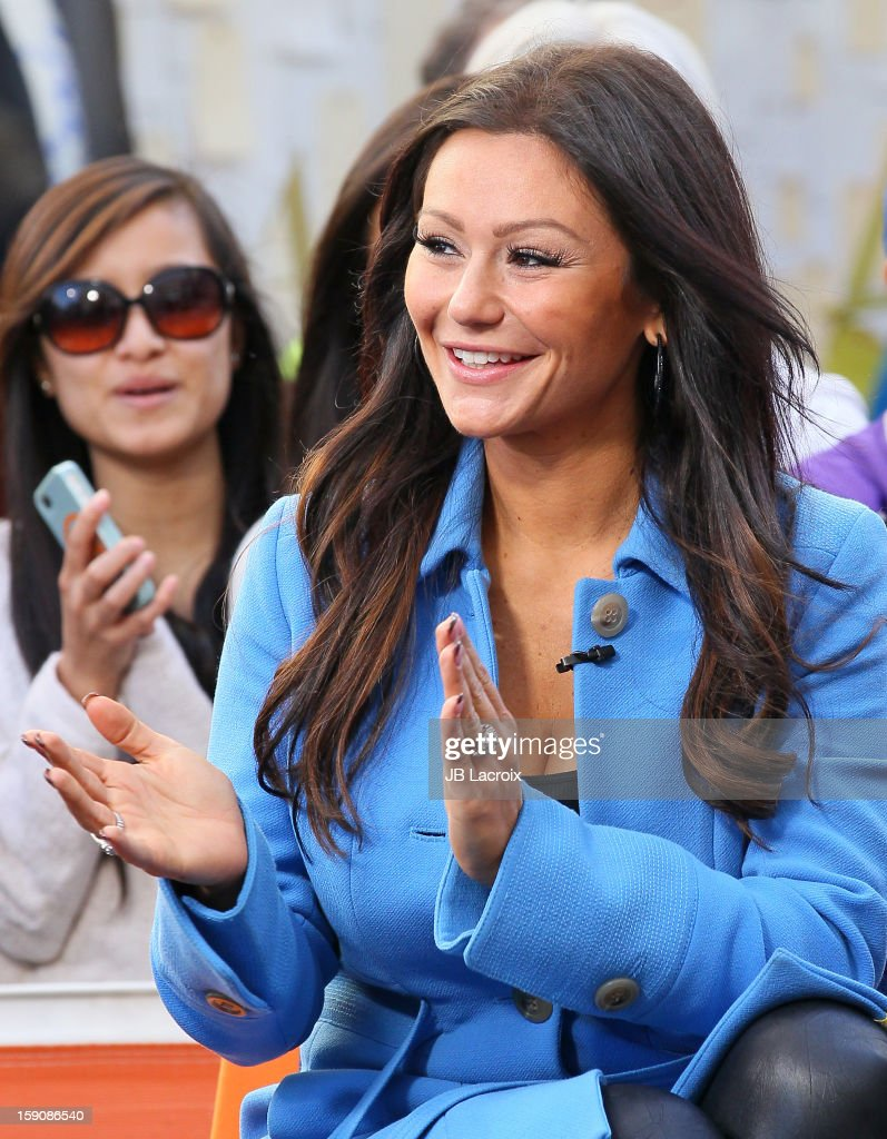 Jenni 'JWoww' Farley is seen at The Grove on January 7, 2013 in Los Angeles, California.