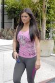 Jenni 'JWoww' Farley is seen on May 13 2010 in Miami Beach Florida