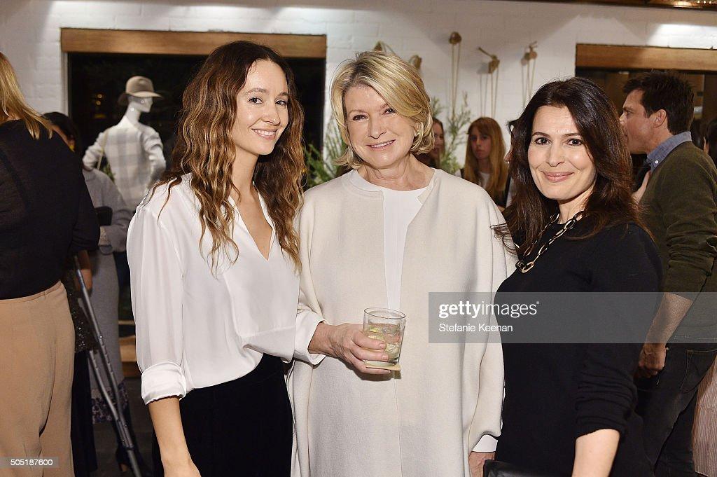 Jenni Kayne; Martha Stewart and Pamela Salzman attend Jenni Kayne and Martha Stewart celebrate Martha Stewart Living's 25th Anniversary Issue at Jenni Kayne Boutique on January 15, 2016 in West Hollywood, California.