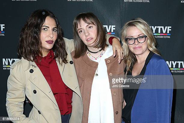Jenni Konner Actress Lena Dunham and Kathleen McCaffrey attends the 12th Annual New York Television Festival Creative Keynote A Conversation With...