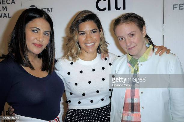 Jenni Konner America Ferrera and Lena Dunham attend Tribeca Talks Storytellers Lena Dunham and Jenni Konner with TK during 2017 Tribeca Film Festival...