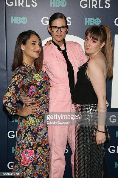 Jenni Konner Jenna Lyons and Lena Dunham attend The New York Premiere of the Sixth Final Season of 'Girls' at Alice Tully Hall on February 2 2017 in...