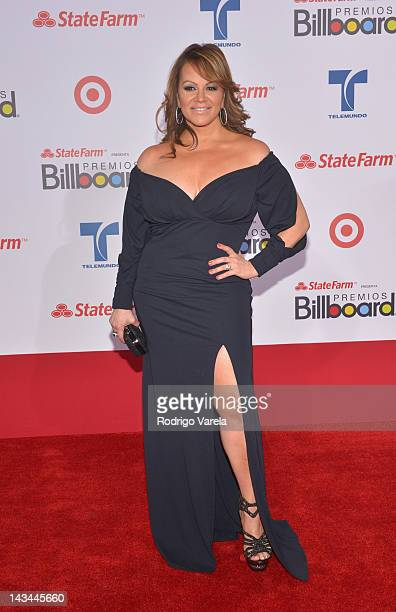 Jenni Rivera arrives at the Billboard Latin Music Awards 2012 at Bank United Center on April 26 2012 in Miami Florida