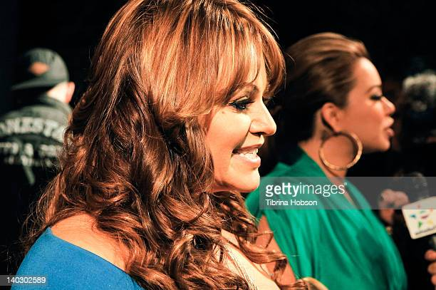 Jenni Rivera gives an interview on the red carpet at the premiere of mun2's 'I Love Jenni' Season 2 at My House on March 1 2012 in Hollywood...
