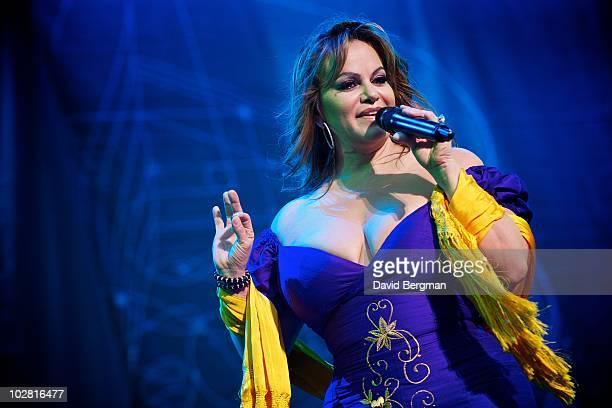Jenni Rivera performs at Lilith 2010 at Verizon Wireless Amphitheater on July 10 2010 in Irvine California
