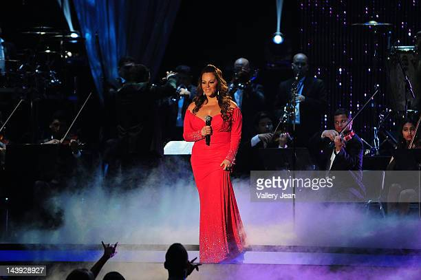 Jenni Rivera performs during Billboard Latin Music Awards 2012 at Bank United Center on April 26 2012 in Miami Florida