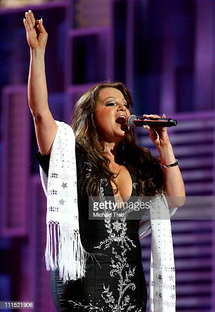 Jenni Rivera performs onstage during the 9th Annual Latin Grammy Awards held at Toyota Center on November 13 2008 in Houston Texas