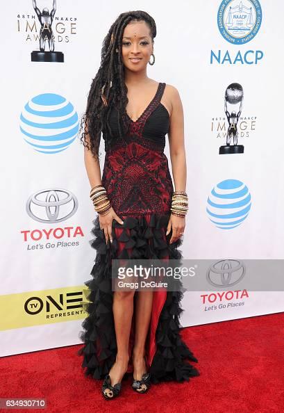 Jennia Fredrique arrives at the 48th NAACP Image Awards at Pasadena Civic Auditorium on February 11 2017 in Pasadena California