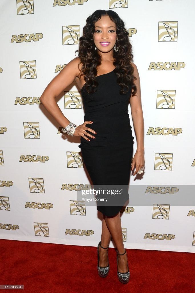 Jennia Fredrique attends The American Society of Composers, Authors and Publishers (ASCAP) 26th Annual Rhythm & Soul Music Awards at The Beverly Hilton Hotel on June 27, 2013 in Beverly Hills, California.