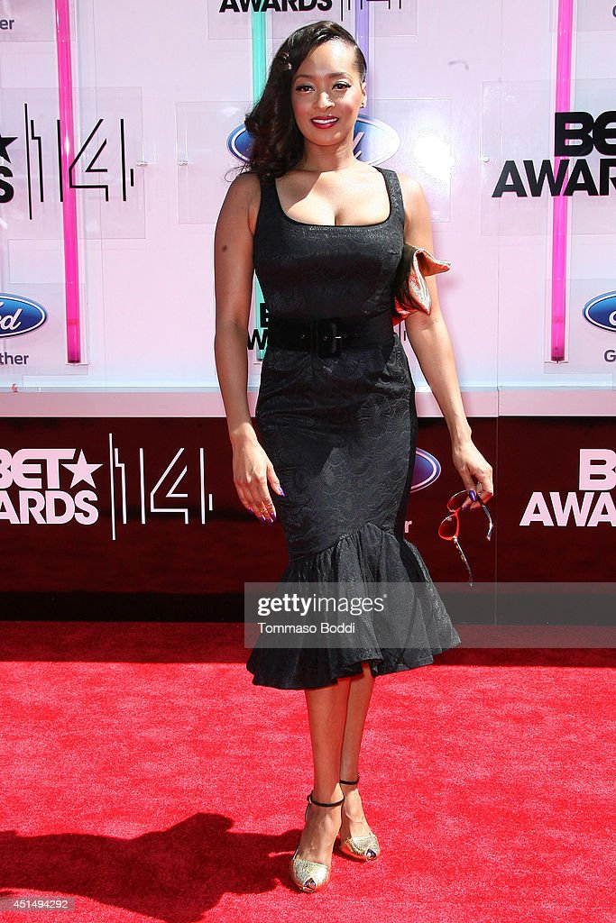 Jennia Fredrique attends the 'BET AWARDS' 14 held at Nokia Theatre L.A. Live on June 29, 2014 in Los Angeles, California.