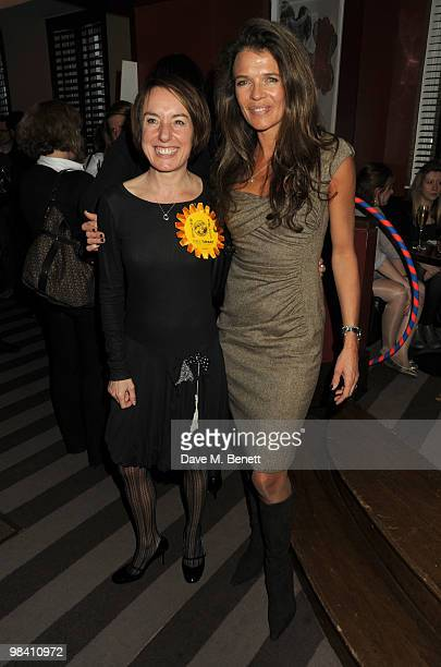 Jennie Blouet and Annabel Croft attend the StreetSmart party at the Groucho Club on April 12 2010 in London England
