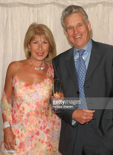 Jennie Bond and Nick Owen during ITV's Hells Kitchen Arrivals at Brick Lane in London Great Britain