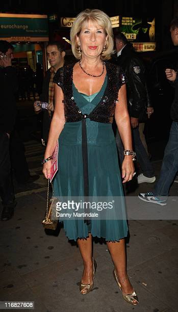 Jennie Bond attends a party to celebrate ten years of the television programme Loose Women at Cafe de Paris on October 8 2009 in London England