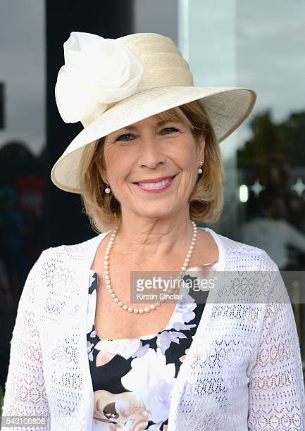 Jennie Bond attends day 1 of Royal Ascot at Ascot Racecourse on June 14 2016 in Ascot England