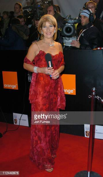 Jennie Bond during 2004 BAFTA Awards Inside Arrivals at The Odeon Leicester Square in London United Kingdom