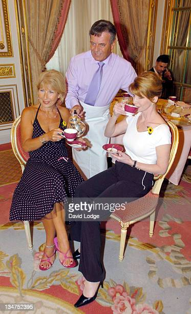 Jennie Bond Tony Blackburn and Jane Asher during 'Tea At 3' Celebrity Tea Party In Aid Of Help The Hospices at The Ritz Hotel in London Great Britain