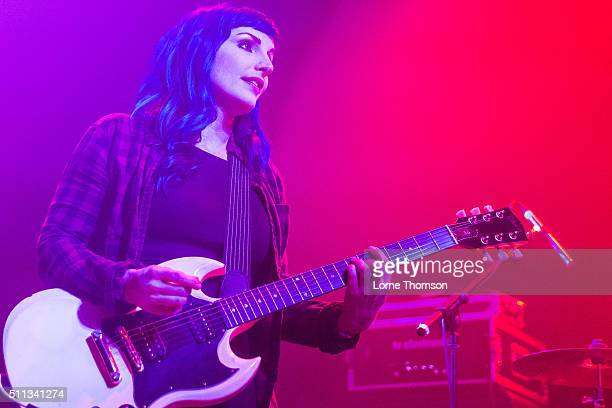 Jennie Cotterill of Bad Cop / Bad Cop performs at Electric Ballroom on February 19 2016 in London England