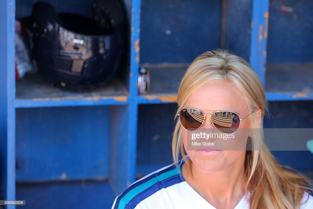 <a gi-track='captionPersonalityLinkClicked' href=/galleries/search?phrase=Jennie+Finch&family=editorial&specificpeople=212970 ng-click='$event.stopPropagation()'>Jennie Finch</a> looks on prior to Managing the Bridgeport Bluefish against Southern Maryland Blue Crabs at The Ballpark at Harbor Yards on May 29, 2016 in Bridgeport, Connecticut. <a gi-track='captionPersonalityLinkClicked' href=/galleries/search?phrase=Jennie+Finch&family=editorial&specificpeople=212970 ng-click='$event.stopPropagation()'>Jennie Finch</a> is the first woman to manages a men's independent league baseball game.