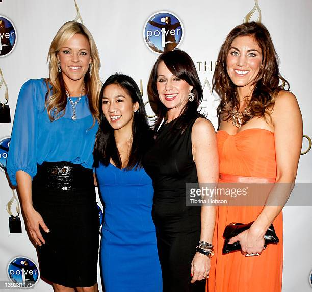 Jennie Finch Michelle Kwan Nadia Comaneci and Hope Solo attend the 'Power Of I' celebrating women and sport gala dinner at LA Live on February 17...