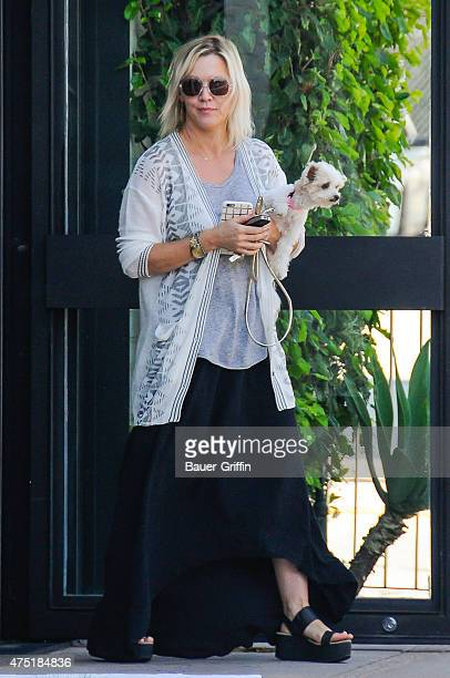 Jennie Garth is seen with her dog Pinky on May 29 2015 in Los Angeles California
