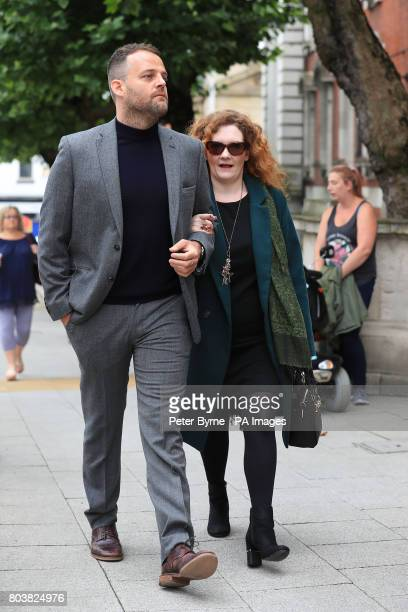 Jennie McAlpine who plays Fiz Brown in Coronation Street arrives at the funeral service of Martyn Hett who was killed in the Manchester Arena bombing...