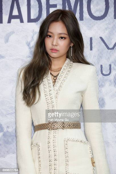 Jennie of girl group BLACKPINK attends the 'Mademoiselle Prive' exhibition at the DMuseum on June 21 2017 in Seoul South Korea