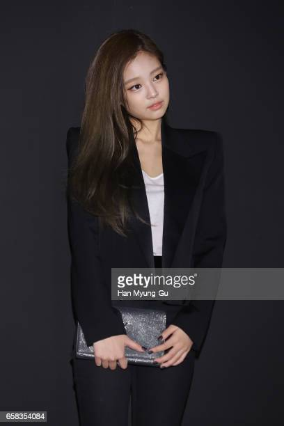Jennie of girl group BLACKPINK attends the photocall for 'Saint Laurent' by Anthony Vaccarello Collection Launch Party at BoonTheShop on March 27...
