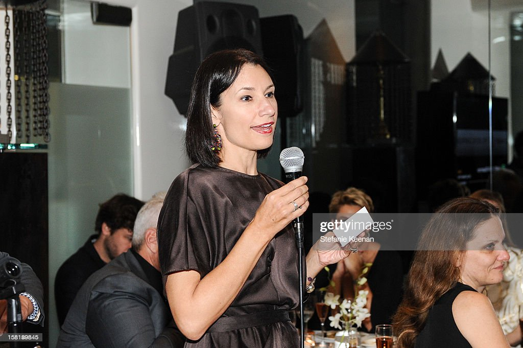 Jennie Prebor attends LAXART Vision dinner At Mr. Chow sponsored by Jay Carlile and Guess at Mr. Chow on December 10, 2012 in Los Angeles, California.