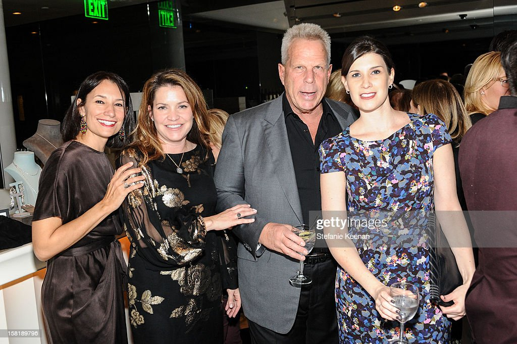 Jennie Prebor, Jennifer Hawks, Steve Tisch and Sima Familant attend LAXART Vision dinner At Mr. Chow sponsored by Jay Carlile and Guess at Mr. Chow on December 10, 2012 in Los Angeles, California.
