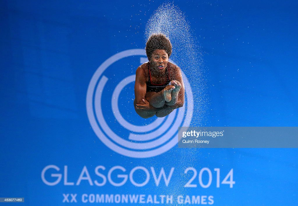 Jennifer Abel of Canada competes in the Women's 3m Springboard at Royal Commonwealth Pool during day ten of the Glasgow 2014 Commonwealth Games on August 2, 2014 in Edinburgh, United Kingdom.