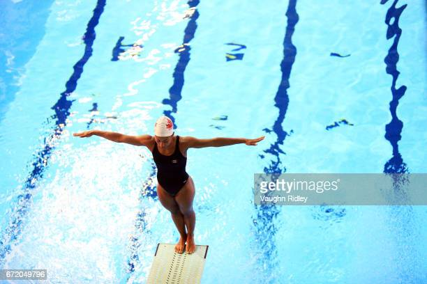 Jennifer Abel of Canada trains during the 2017 FINA Diving World Series at the Windsor International Aquatic and Training Centre on April 22 2017 in...