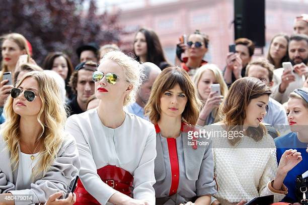 Jennifer Ackerman Franziska Knuppe Eva Padberg Marie Nasemann and Jella Haase attend Der Berliner Modesalon on July 10 2015 in Berlin Germany