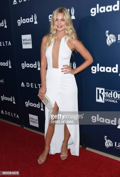 Jennifer Akerman attends the 28th annual GLAAD Media awards at the Beverly Hilton hotel in Beverly Hills California April 1 2017 / AFP PHOTO / CHRIS...