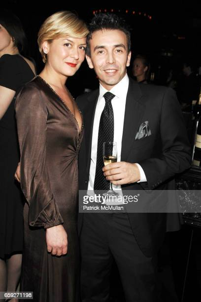 Jennifer Alfonso and Celso Moreira attend Moët Chandon Private Oscar Viewing Party at 1OAK on February 22 2009 in New York City