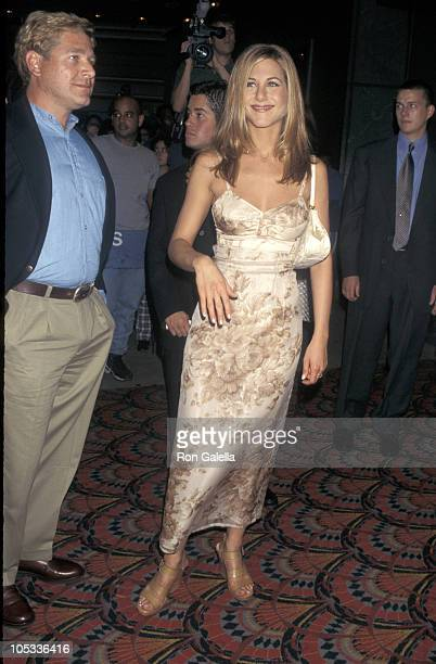 Jennifer Aniston and brother John Melick during Screening of 'Picture Perfect' at Sony Lincoln Square in New York City NY United States