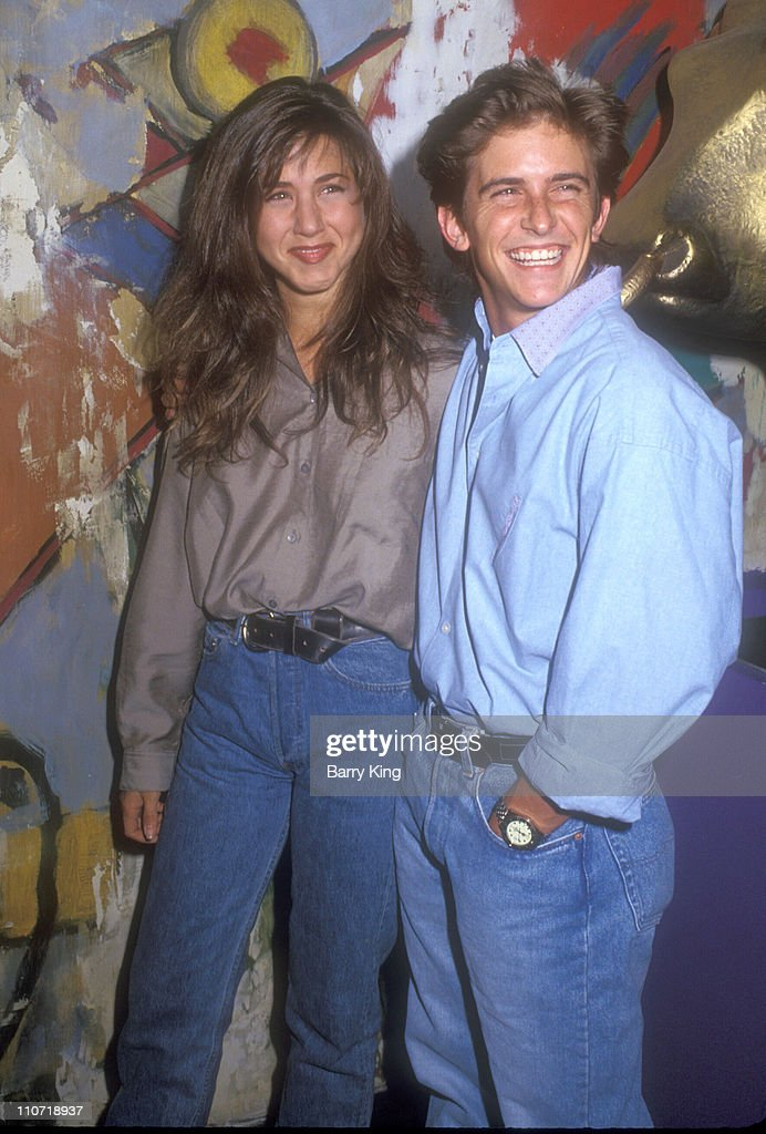 Jennifer Aniston and Charlie Schlatter during NBC Allstars Party 1990 in Los Angeles, California, United States.