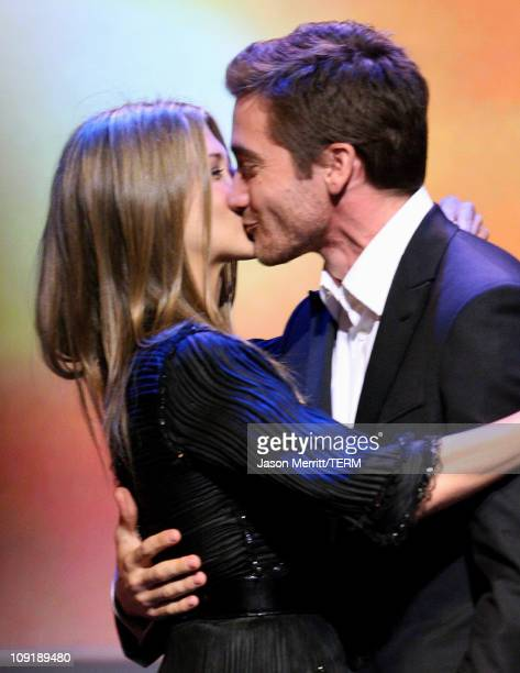 Jennifer Aniston and Jake Gyllenhaal during 18th Annual GLAAD Media Awards Show at Kodak Theatre in Hollywood California United States