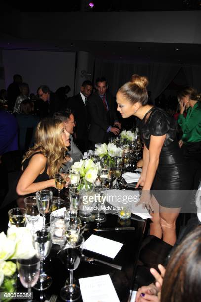 Jennifer Aniston and Jennifer Lopez attend Glamour's 2011 Women of the Year Awards Dinner at the Museum of Modern Art on November 7 2011 in New York...