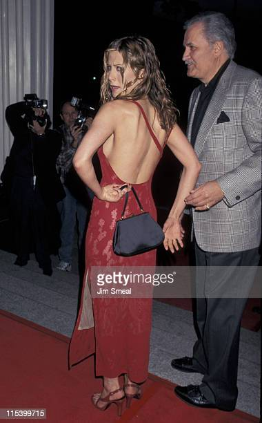 Jennifer Aniston and John Aniston during 'The Object of My Affection' LA Premiere April 9 1998 at GCC Avco Theater in Westwood California United...