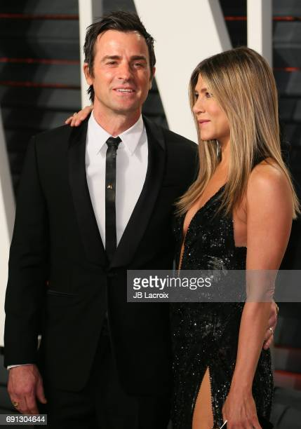 Jennifer Aniston and Justin Theroux attend the 2017 Vanity Fair Oscar Party hosted by Graydon Carter at Wallis Annenberg Center for the Performing...