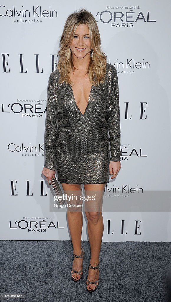 Jennifer Aniston arrives as ELLE Honors Hollywood+s Most Esteemed Women in the 18th Annual Women in Hollywood Tribute; at The Four Seasons Beverly Hills on October 17, 2011 in Los Angeles, California.